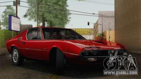 Alfa Romeo Montreal (105) 1970 for GTA San Andreas upper view