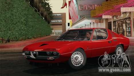 Alfa Romeo Montreal (105) 1970 for GTA San Andreas back view