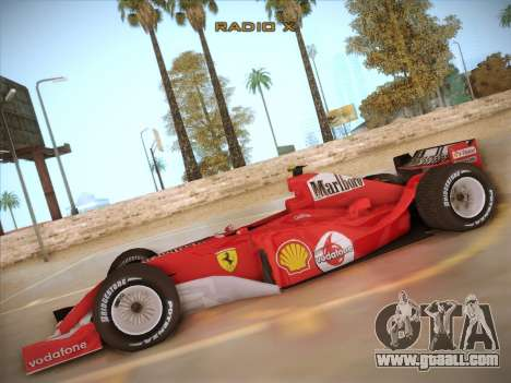 Ferrari F1 2005 for GTA San Andreas left view