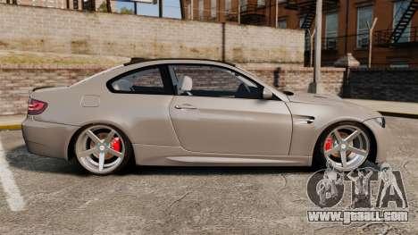 BMW M3 E92 2008 for GTA 4 left view