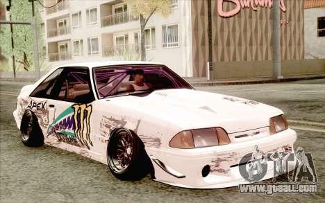 Ford Mustang SVT Cobra 1993 Drift for GTA San Andreas back left view