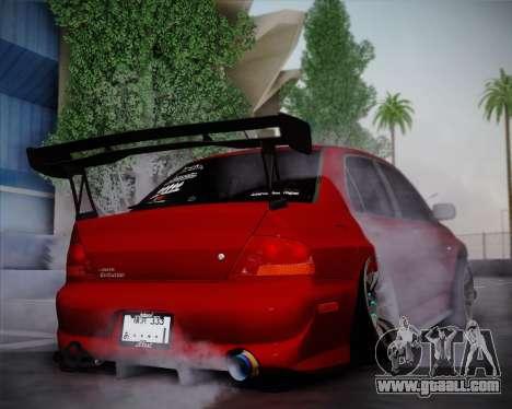 Mitsubishi Evolution VIII for GTA San Andreas right view