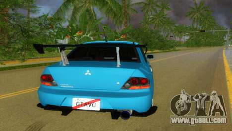 Mitsubishi Lancer Evolution VIII Type 8 for GTA Vice City back left view