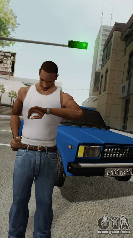 View the time on a wristwatch for GTA San Andreas second screenshot