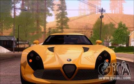 Alfa Romeo TZ3 2011 for GTA San Andreas right view