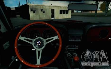 Shelby GT500 428 Cobra Jet 1969 v1.1 for GTA San Andreas inner view