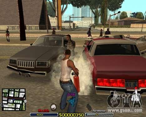 C-HUD by qrt for GTA San Andreas second screenshot