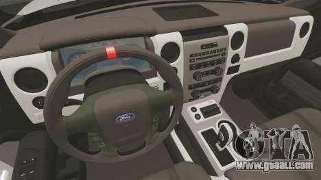 Ford SVT Raptor 2012 for GTA 4 inner view