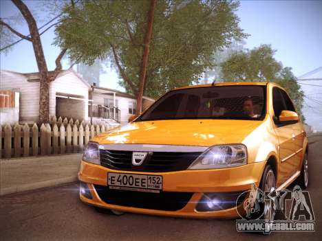 Dacia Logan GrayEdit for GTA San Andreas side view