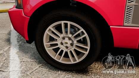Range Rover TDV8 Vogue for GTA 4 back view