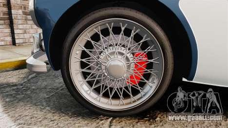 Austin-Healey 3000 Mk III 1965 for GTA 4 back view