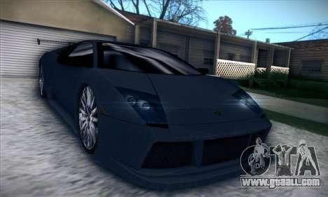 Lamborghini Murcielago GT Carbone for GTA San Andreas inner view