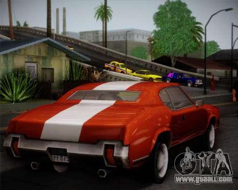 Sabre Turbo for GTA San Andreas inner view