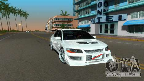 Mitsubishi Lancer Evolution VIII Type 8 for GTA Vice City right view