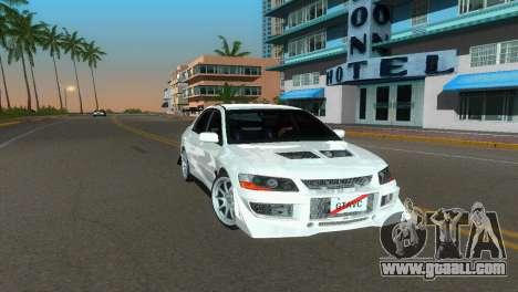 Mitsubishi Lancer Evolution VIII Type 8 for GTA Vice City right view
