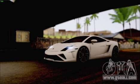 Lamborghini Gallardo LP560-4 2013 for GTA San Andreas back view