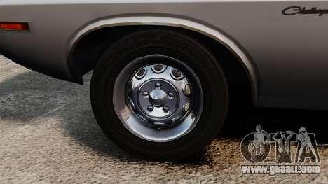 Dodge Challenger 1971 v1 for GTA 4 back view