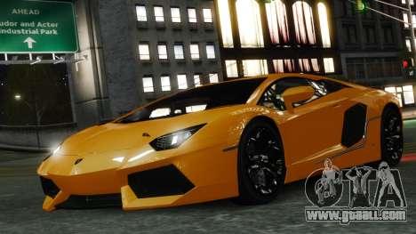 Lamborghini Aventador LP700-4 [EPM] 2012 for GTA 4 interior