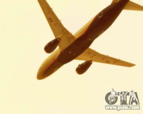 Sukhoi Superjet 100-95 Aeroflot for GTA San Andreas inner view