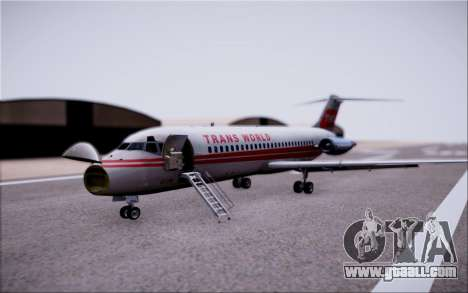 McDonnel Douglas DC-9-10 for GTA San Andreas side view