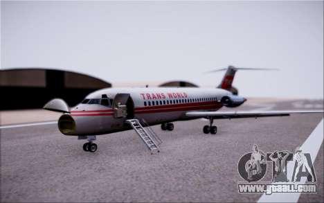 McDonnel Douglas DC-9-10 for GTA San Andreas side view