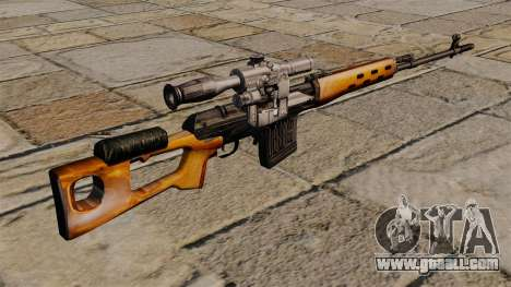 Dragunov sniper rifle of S.T.A.L.K.E.R. for GTA 4 second screenshot