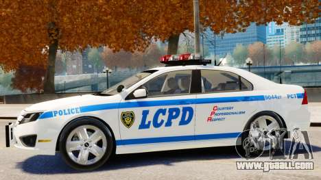 Ford Fusion LCPD 2011 [ELS] for GTA 4 back left view