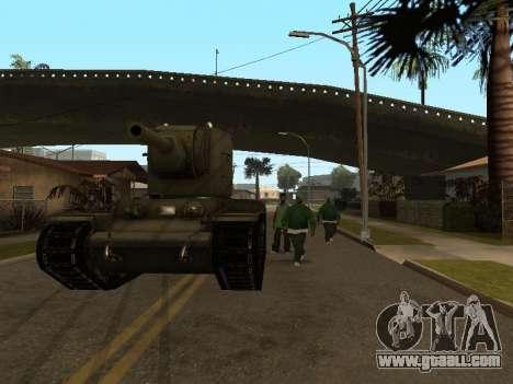 KV-2 for GTA San Andreas back view