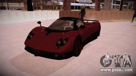 Pagani Zonda for GTA San Andreas back left view