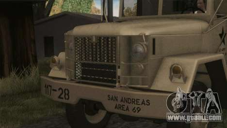 AM General M35A2 1950 for GTA San Andreas back view