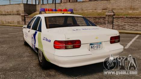 Chevrolet Caprice Police 1991 v2.0 N.o.o.s.e for GTA 4 back left view