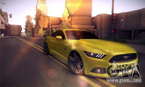 Ford Mustang 2015 Swag for GTA San Andreas