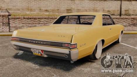 Pontiac GTO 1965 for GTA 4 back left view