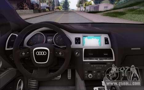 Audi Q7 Winter for GTA San Andreas right view