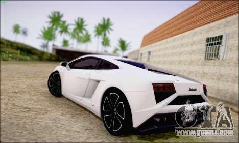 Lamborghini Gallardo LP560-4 2013 for GTA San Andreas back left view