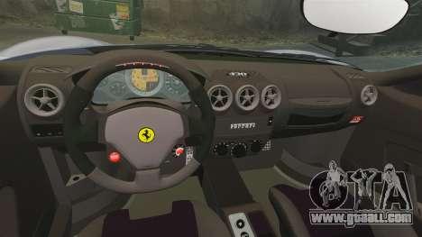Ferrari F430 Scuderia 2007 for GTA 4 inner view