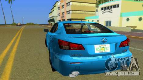 Lexus IS-F for GTA Vice City back left view