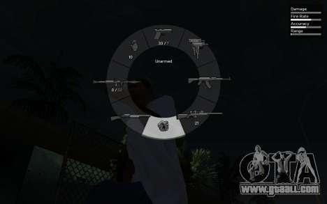 GTA V Weapon Scrolling for GTA San Andreas second screenshot
