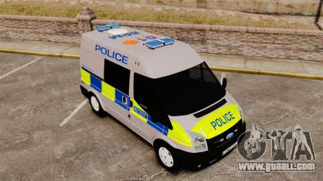 Ford Transit 2013 Police [ELS] for GTA 4 inner view
