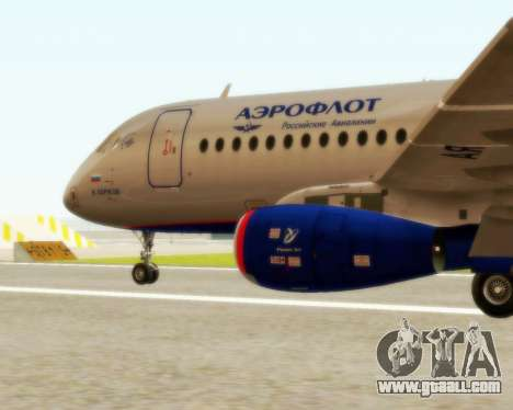 Sukhoi Superjet 100-95 Aeroflot for GTA San Andreas left view