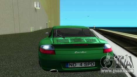 Porsche 911 Turbo for GTA Vice City right view
