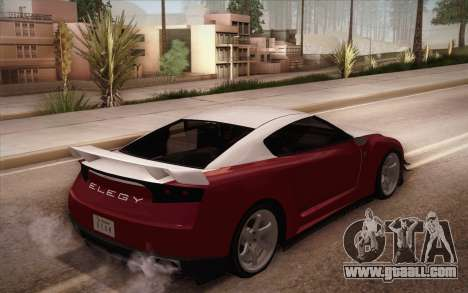 Elegy RH8 from GTA V for GTA San Andreas back left view