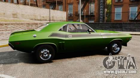 Dodge Challenger 1971 v2 for GTA 4 left view