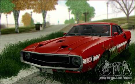 Shelby GT500 428 Cobra Jet 1969 v1.1 for GTA San Andreas