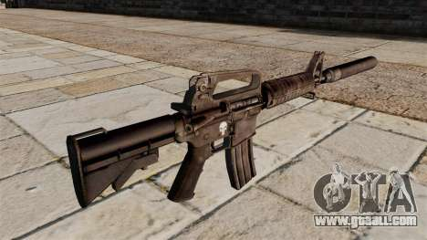 SMG M4 carbine with silencer for GTA 4 second screenshot