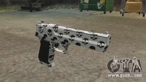 Pistol Desert Eagle Skull for GTA 4