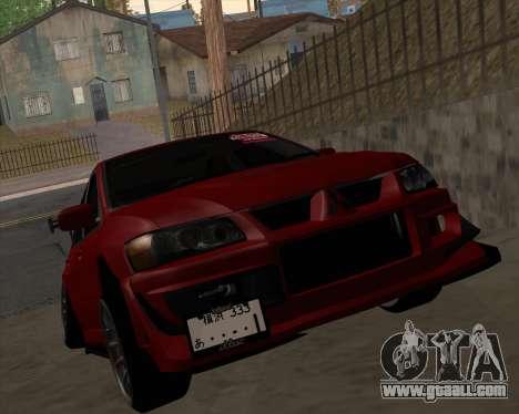 Mitsubishi Evolution VIII for GTA San Andreas left view
