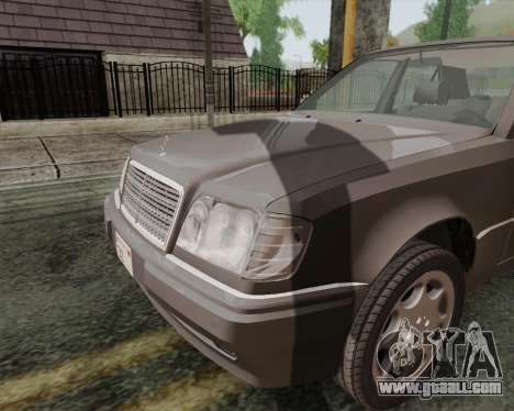 Mercedes-Benz W124 E500 for GTA San Andreas back left view