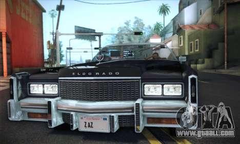 Cadillac Eldorado 1978 Convertible for GTA San Andreas back left view