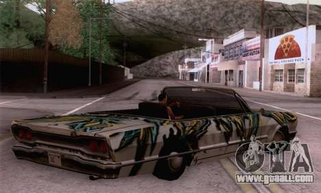 The painting work for Savanna for GTA San Andreas left view
